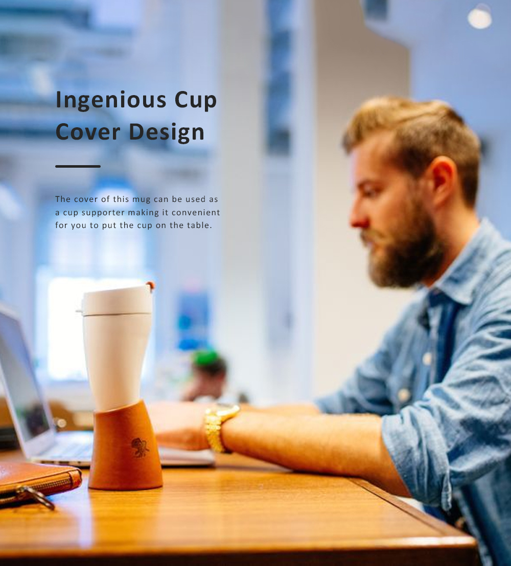 Stylish Creative Goat Claw Model Coffee Mug With Cover Leather Cup Cover Supporter Portable Outdoors Cup 2