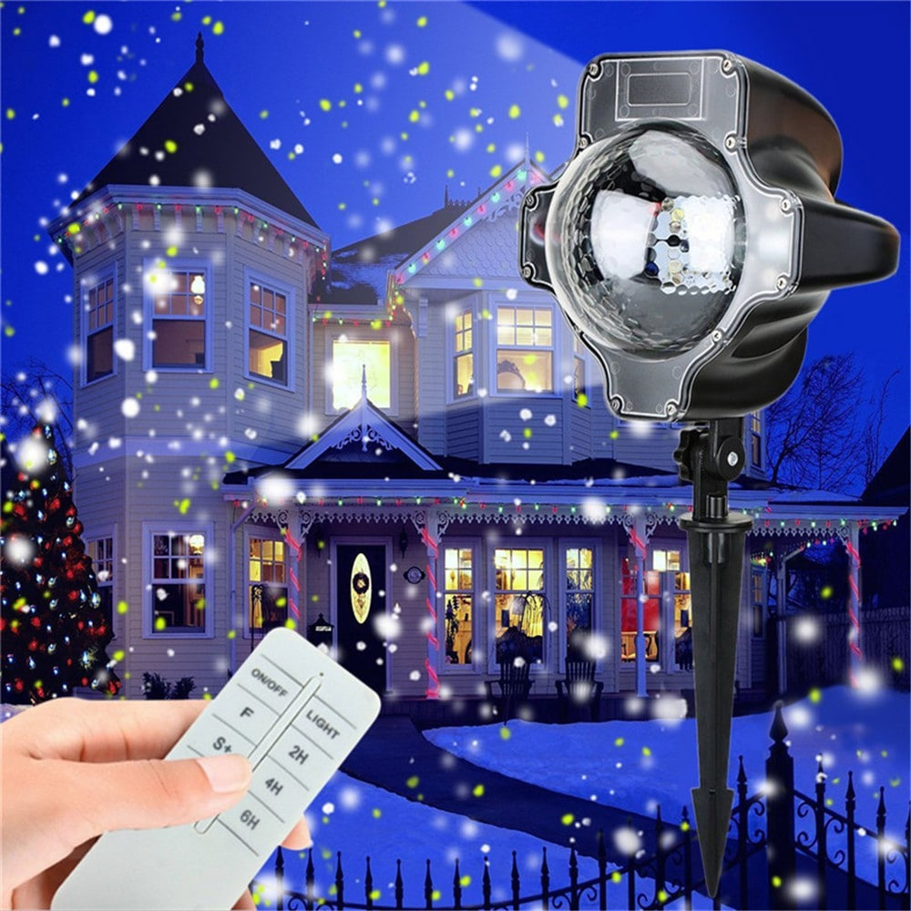 LED Christmas Projector Light Waterproof Lamp With Wireless Remote Control for Halloween Wedding Christmas Decoration 0