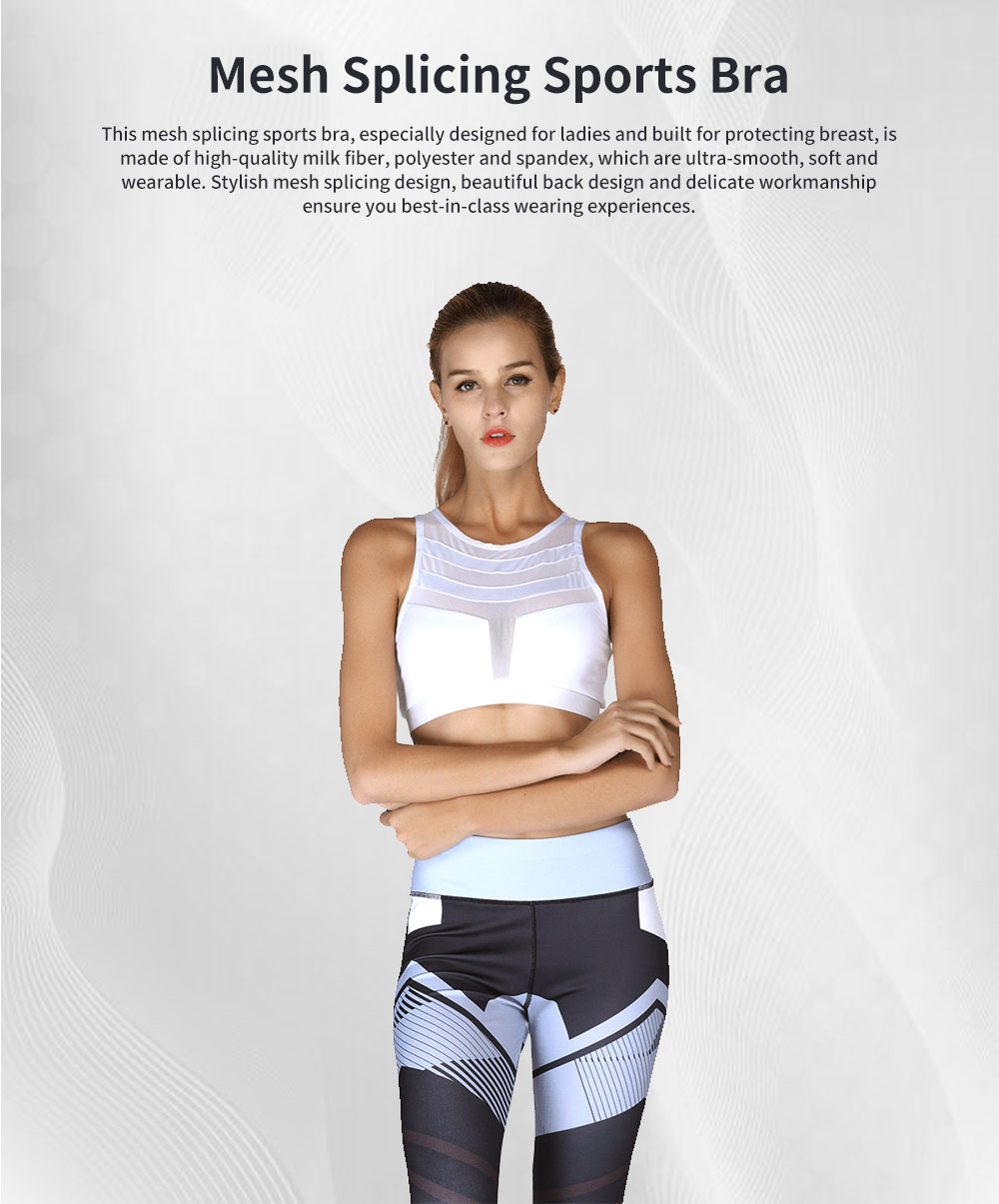 Minimalist Sexy Mesh Splicing Lady Sports Bra Quick-dry Breathable Yoga Dancing Athletic Vest for Women 0