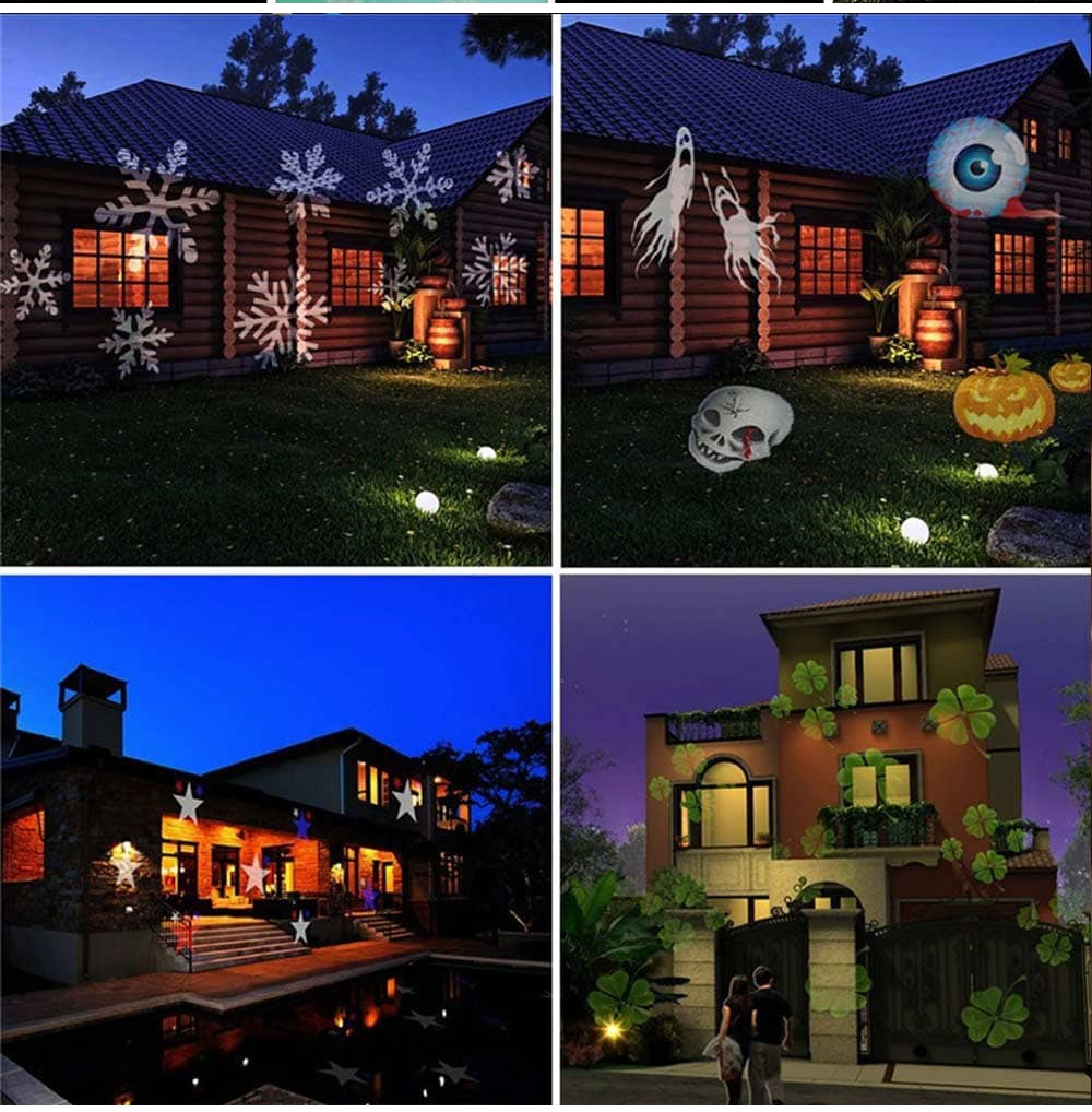 12 Types LED Projector Multi-color Christmas Laser Snowflake Colorful Light Fairy Lights 6W 100 - 240V 1PC For Halloween Christmas Wedding Birthday Party 5