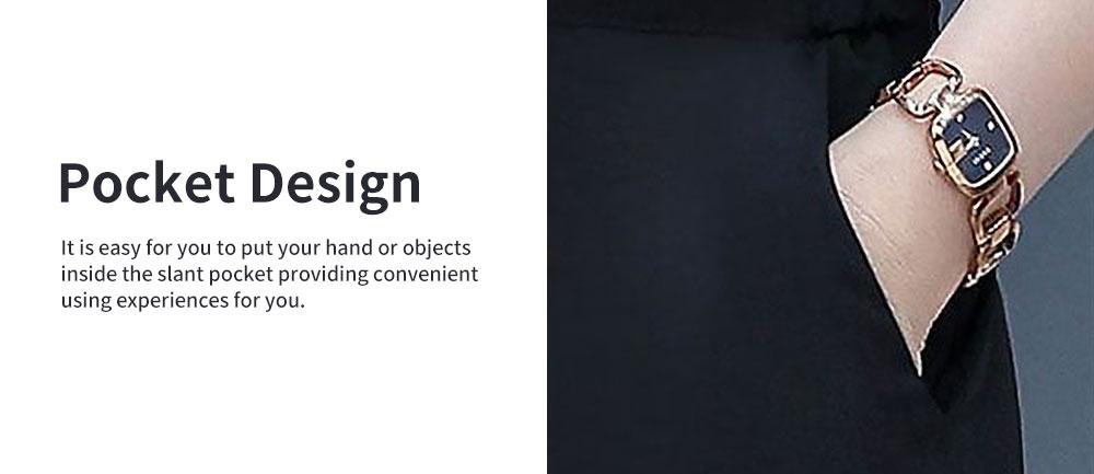 Stylish V-Neck Line Chiffon Shirt Loose Pants Suit for Ladies Minimalist Geometric Figure Pattern Decorative Tops with Falbala Sleeves 4