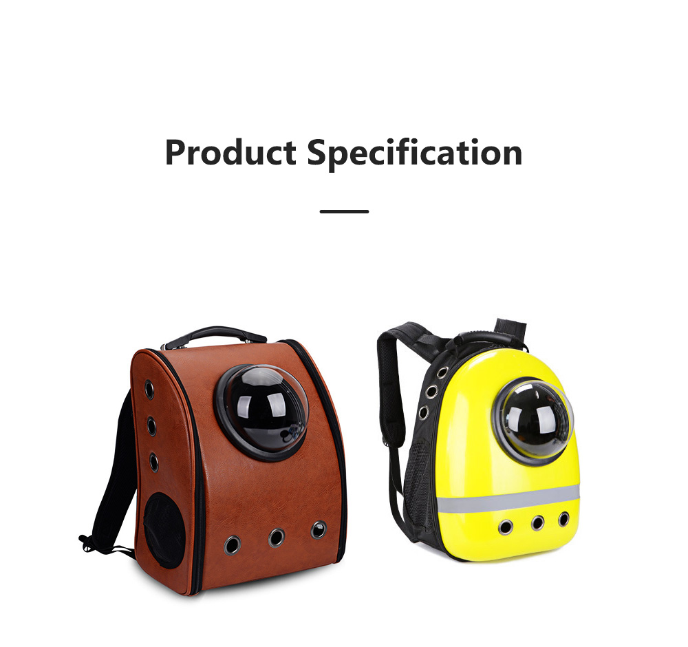 Pure Color Pet Space Capsule Backpack Nontoxic Breathable Knapsack for Dog Cat Going out Pet Products Packsack for Carrying Pet 7