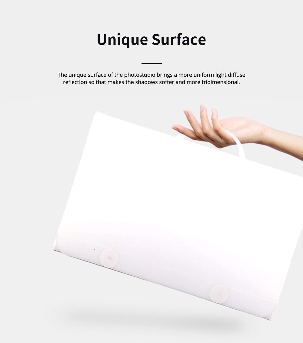60CM Mini LED Photostudio for E-commerce Businessman Waterproof Foldable Picture Studio Fluorescent Lamp Plate Portable Photo Taking Studio Digital Imaging Box 5
