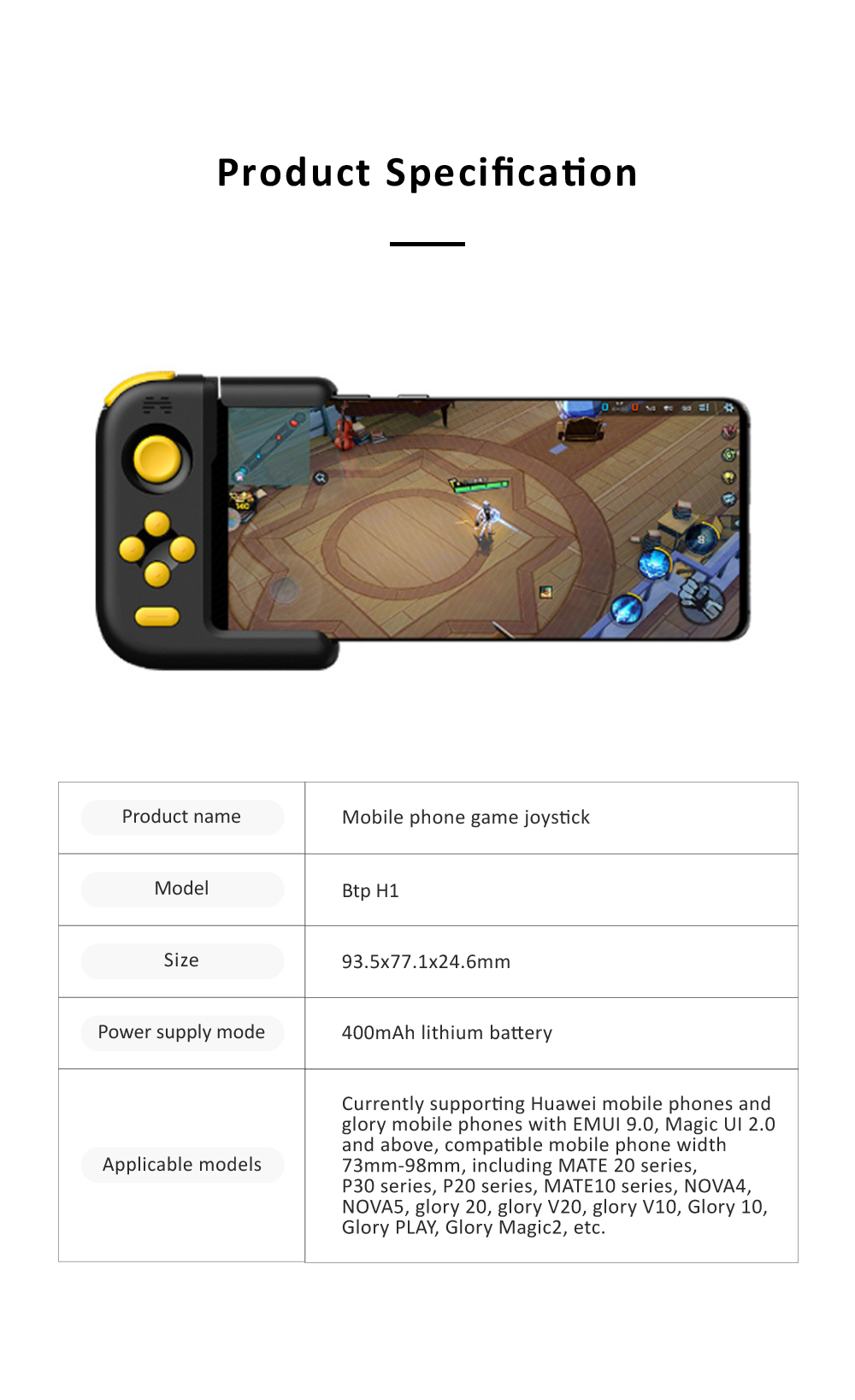 Huawei Beitong H1 Bluetooth Gamepad Joystick For Player Unknown's Battlegrounds Pukk Huawei Mobile Phone Game Controller for Mate20 P30 P20 9