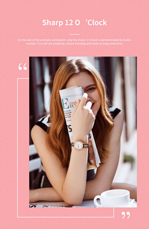Fashionable Women's Wristwatch with Perfume Smell Screw-in Watch-head Wear Resistant Leather Miyota Quartz Watch 3