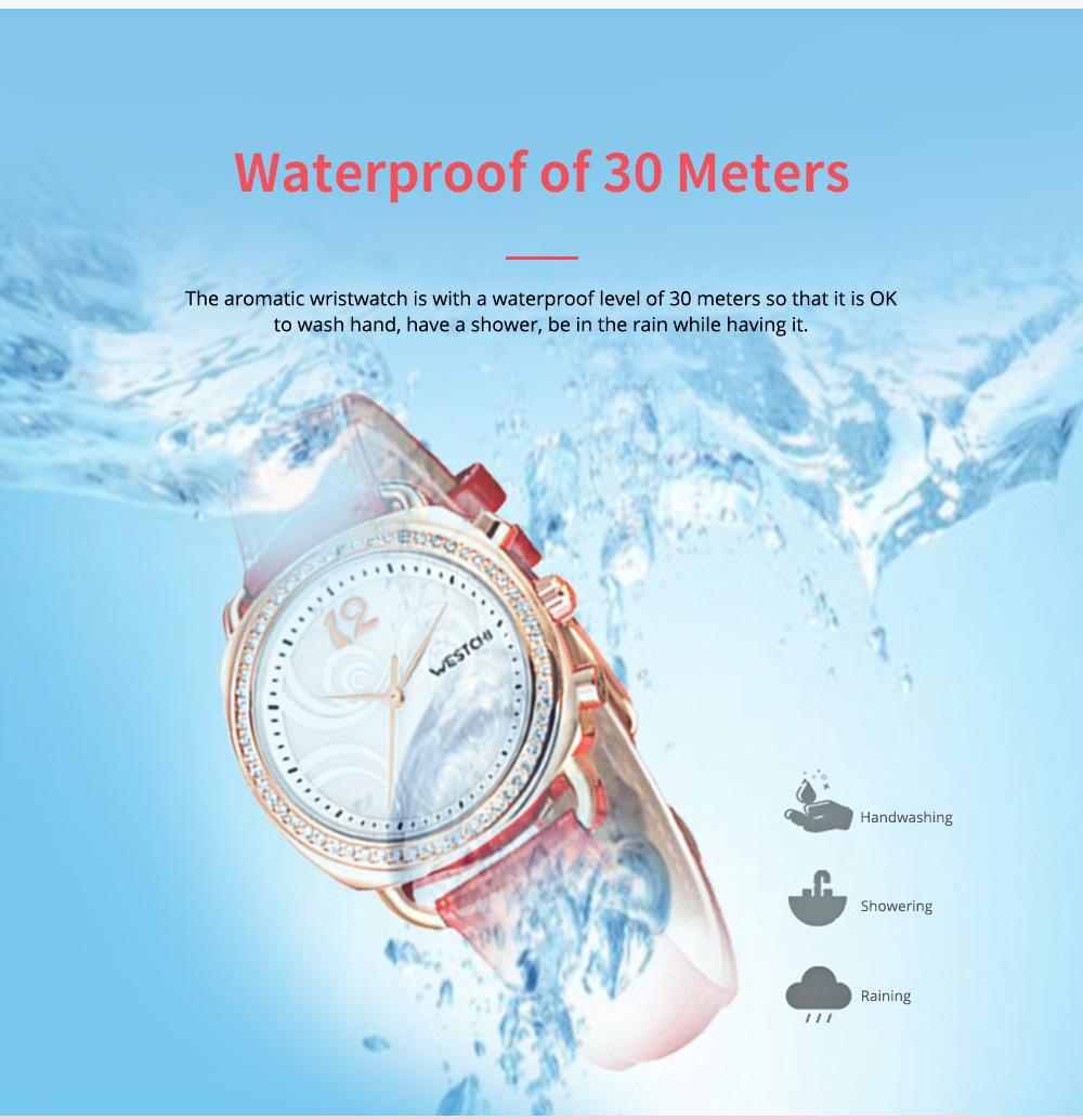 Fashionable Women's Wristwatch with Perfume Smell Screw-in Watch-head Wear Resistant Leather Miyota Quartz Watch 7