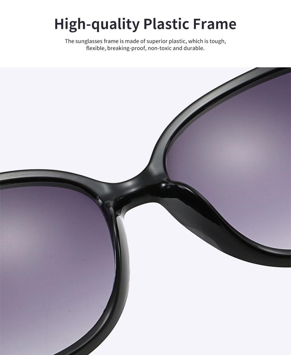 Elegant Fancy Gradient Eyeglasses Ladies Sunglasses UV Sunshine Protection Glasses with Delicate Hollow Clover Pattern Decoration 1