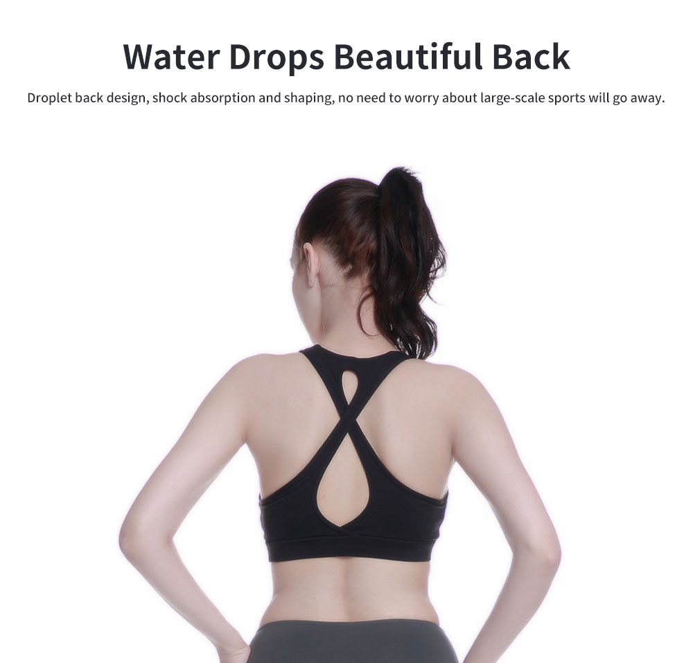 Advanced Yoga Clothes Ladies'Beauty Back Interlaced Underwear, Closed Vest Type Shock-proof Running Bra 3