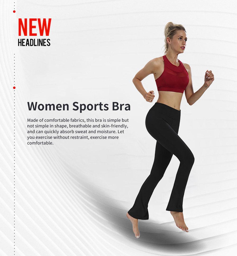 Women Large Size Sports Bra, Gauze Sexy Sportswear Sports Fitness Bra 0