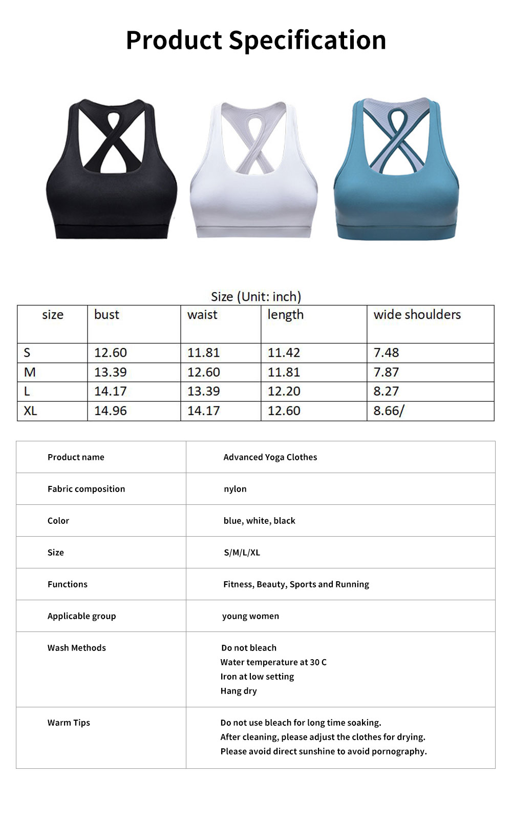 Advanced Yoga Clothes Ladies'Beauty Back Interlaced Underwear, Closed Vest Type Shock-proof Running Bra 6