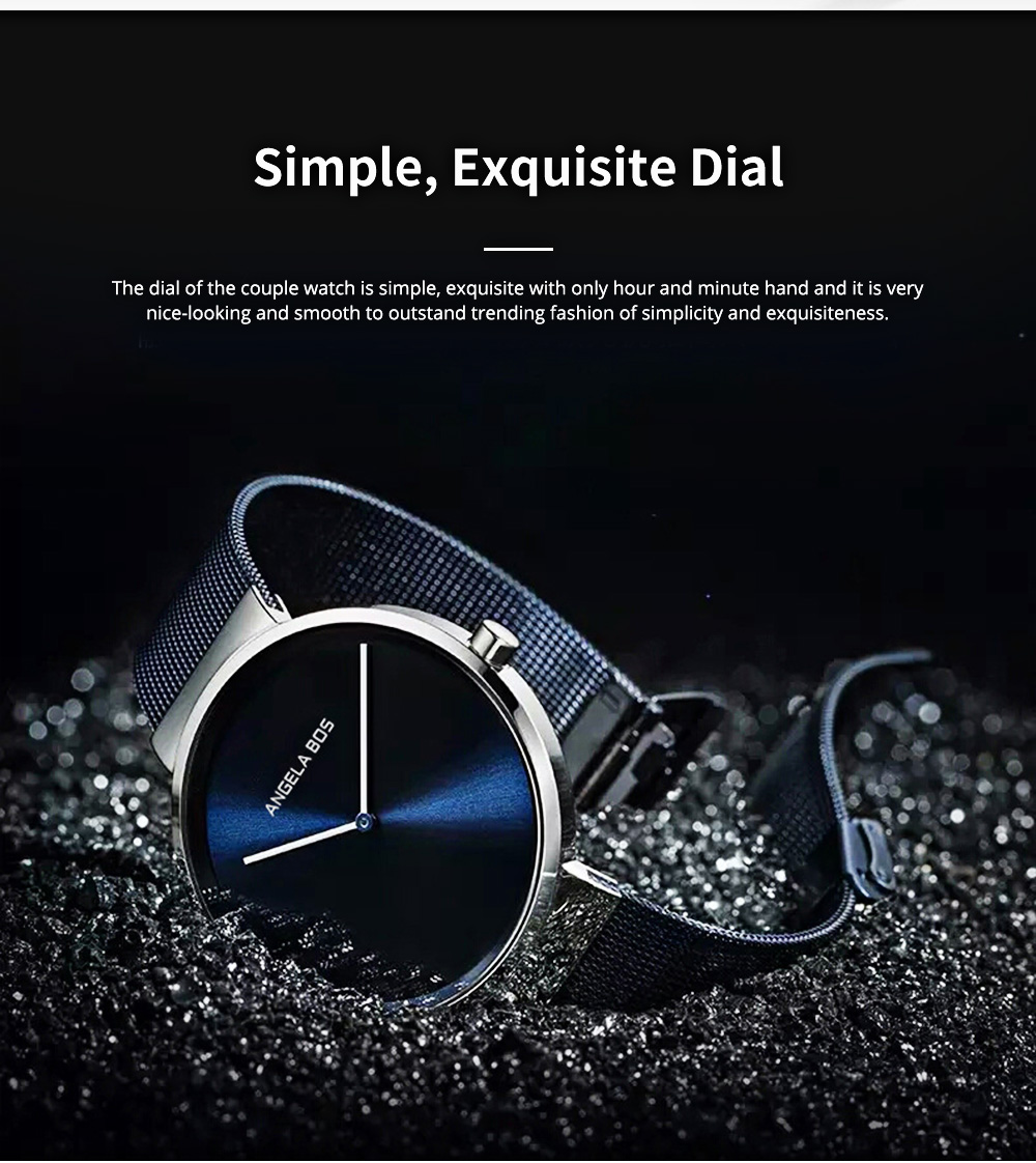 Business Style Couple Watch with Japanese Quartz Movement 30M Waterproof Ultra Thin Quartz Wristwatch Lover Wrist Watch 2