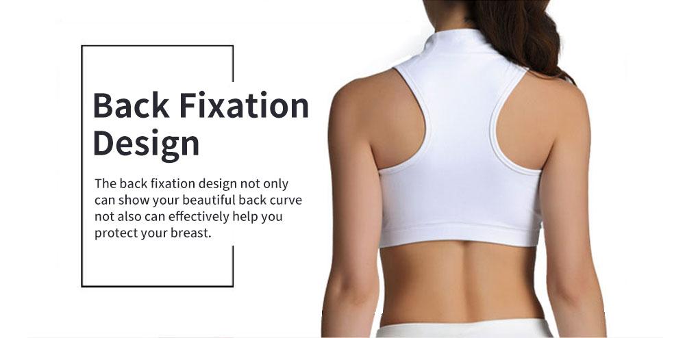 Minimalist High Collar Zipper Yoga Sports Bra for Ladies Fashion Comfortable Quick-dry Athletic Undergarment 4