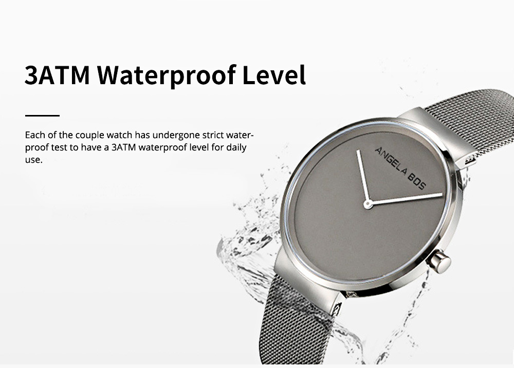 Business Style Couple Watch with Japanese Quartz Movement 30M Waterproof Ultra Thin Quartz Wristwatch Lover Wrist Watch 6