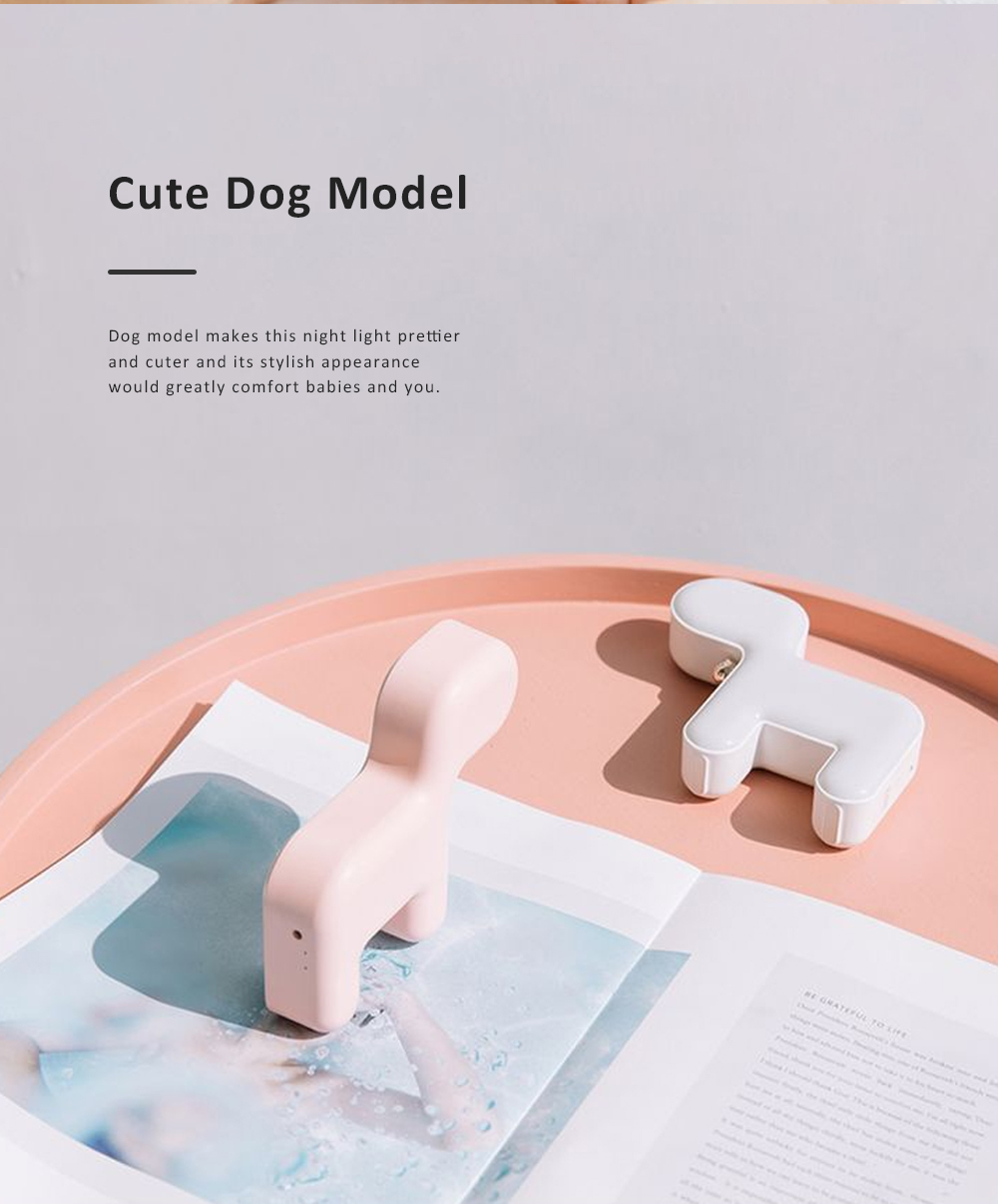 Cute Delicate Dog Bedroom Bedside Night Light Large Capacity Energy-saving LED Baby Comfort Lamp 4