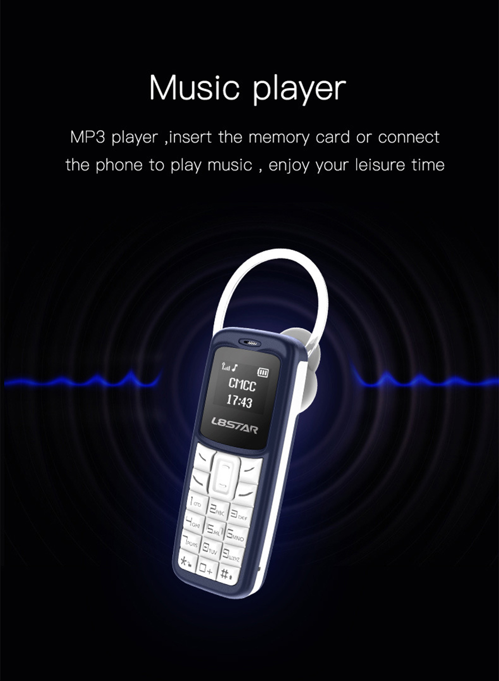 L8STAR BM10 Mini Phone 0.6 inch Lightweight Small Mobile Phone Magic Voice Call Bluetooth Mini Cell Phone 6