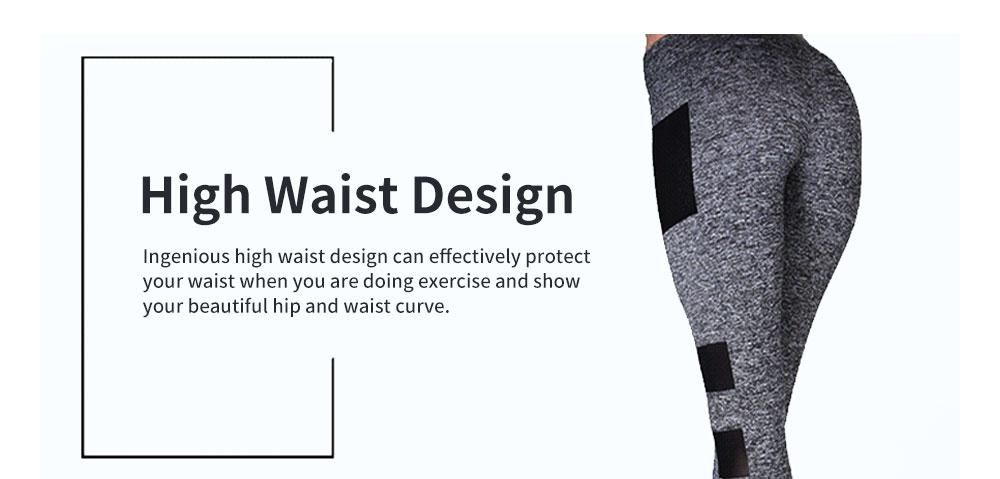 Minimalist Fashion Mesh Splicing Sport Pants for Ladies Breathable Slim Fit Yoga Dancing Exercise High Waist Pants 3