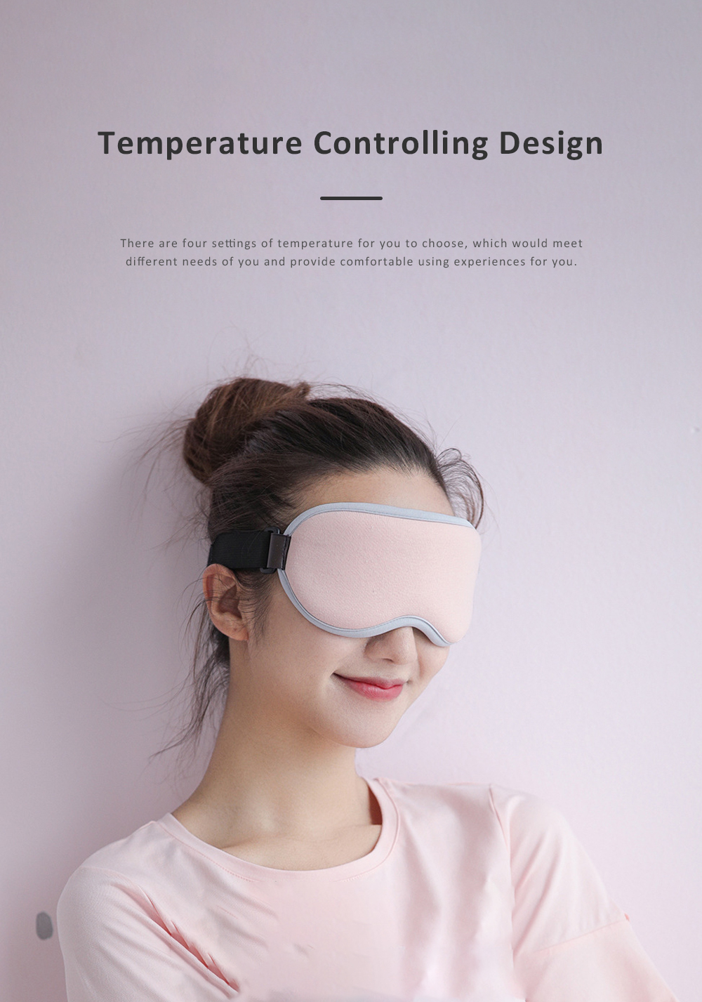 3D Humanization USB Electronic Heating Steam Eye Mask Help Sleep Relieve Fatigue Shading Eye Protection Blinders 6
