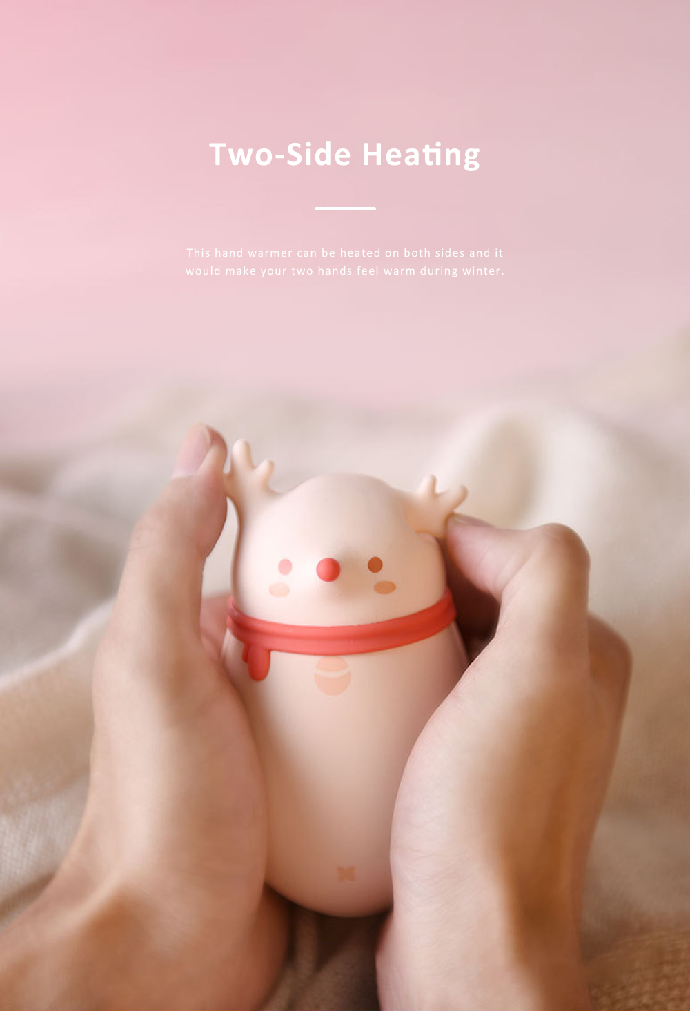 Cute Cartoon Animal Model Portable Power Bank Large Capacity Intelligent Temperature Control Two Sides Heating Hand Warmer 2