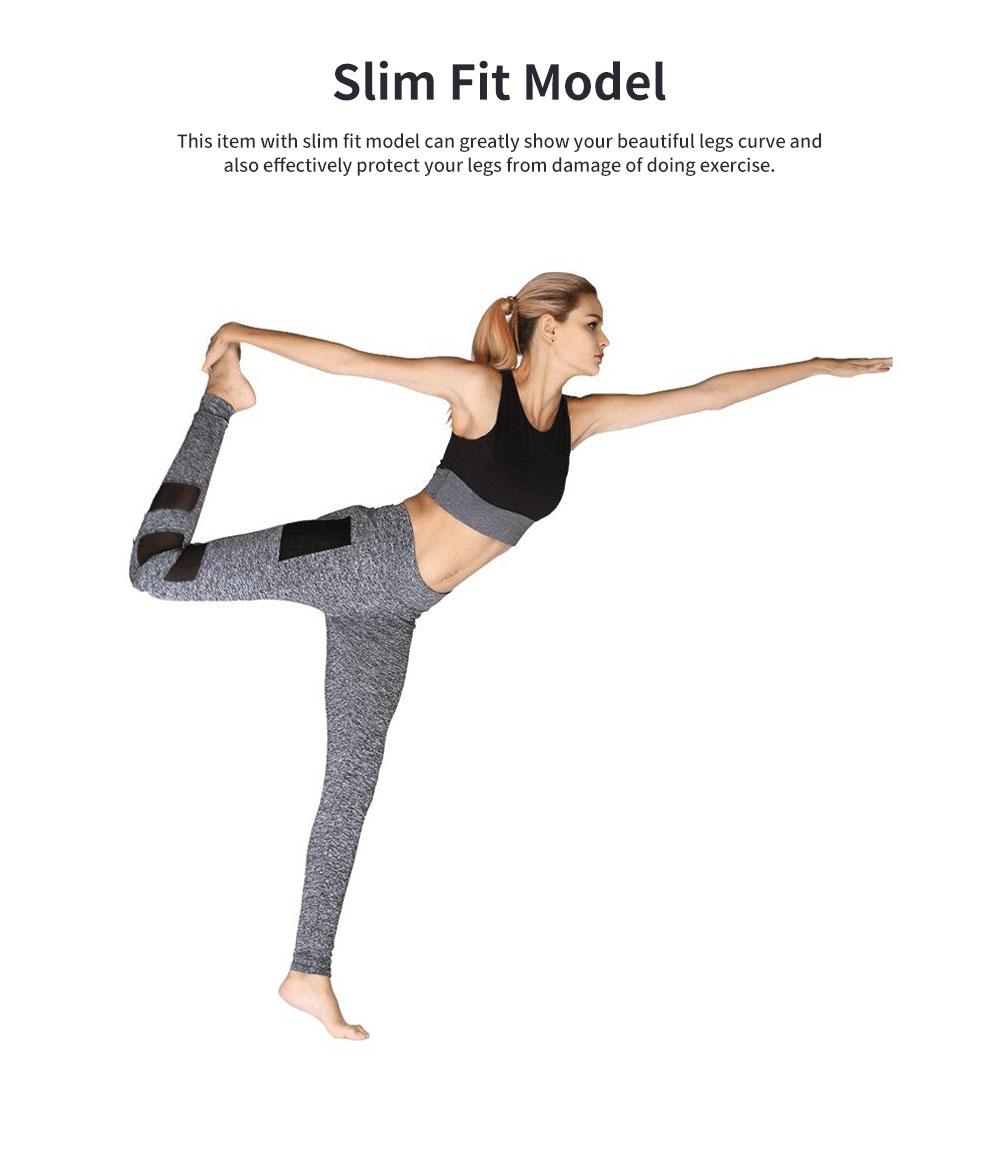 Minimalist Fashion Mesh Splicing Sport Pants for Ladies Breathable Slim Fit Yoga Dancing Exercise High Waist Pants 1