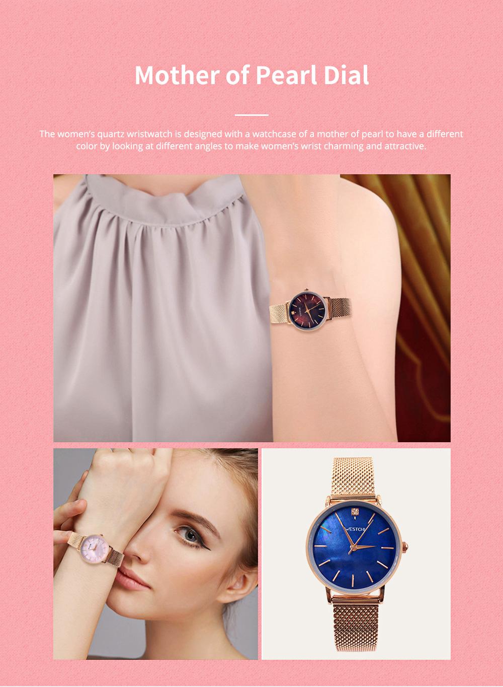 Elegant Quartz Women's Watch with Japan Miyota Movement & Mesh Bracelet Waterproof Mineral Tempered Looking Glass Wristwatch 1
