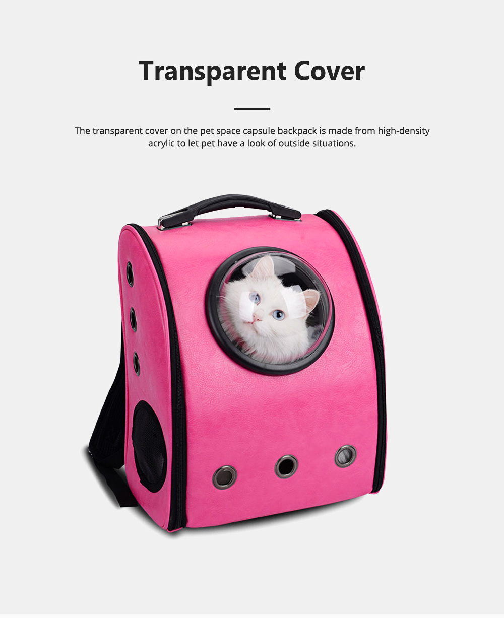 Pure Color Pet Space Capsule Backpack Nontoxic Breathable Knapsack for Dog Cat Going out Pet Products Packsack for Carrying Pet 5