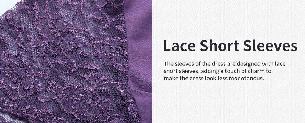 Lucky Lace Short Sleeve Stitching Dress for Pregnant Women, Lactation Dress, Maternity Dress 4