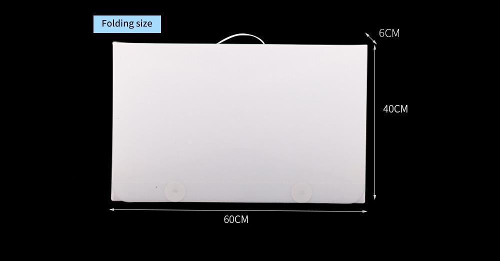 60CM Mini LED Photostudio for E-commerce Businessman Waterproof Foldable Picture Studio Fluorescent Lamp Plate Portable Photo Taking Studio Digital Imaging Box 9