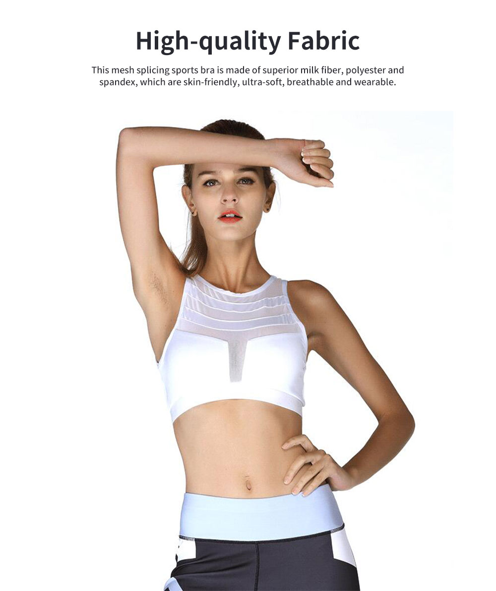 Minimalist Sexy Mesh Splicing Lady Sports Bra Quick-dry Breathable Yoga Dancing Athletic Vest for Women 1