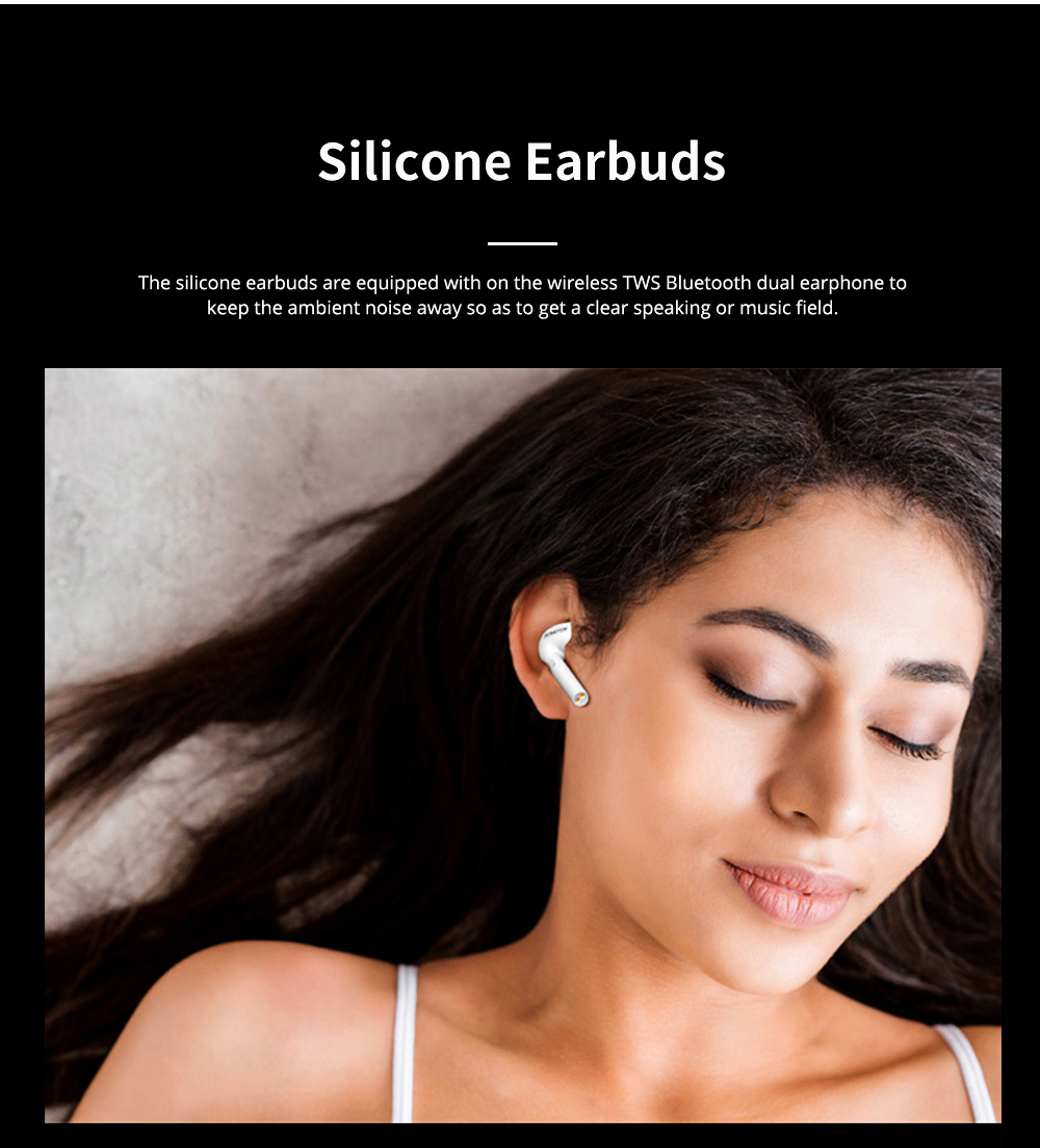 Wireless TWS Bluetooth Dual Earphone Mega Bass Double Ear Earphone Compatible with Android iPhone Equipment Touch Control Earbud Earplug 2