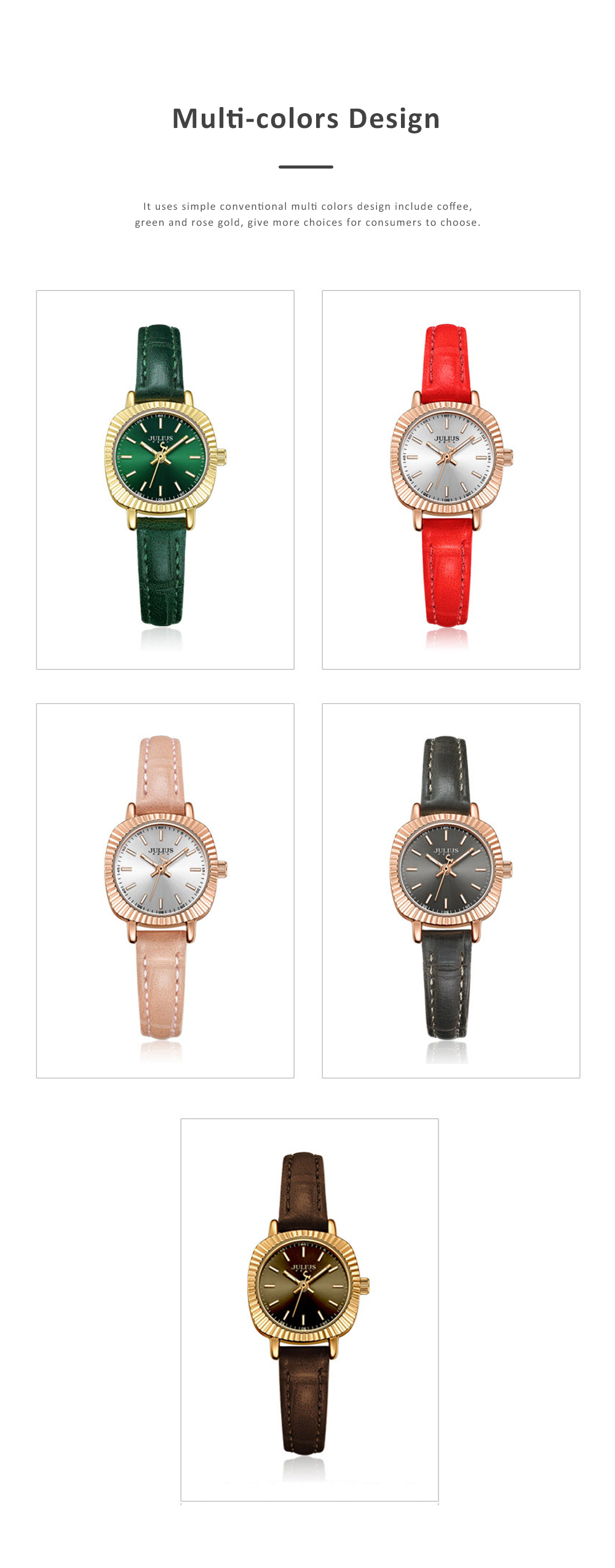 Glitter Dial Watch for Women Waterproof Bottom Cover Ultrafine Leather Strap Quartz watch 5