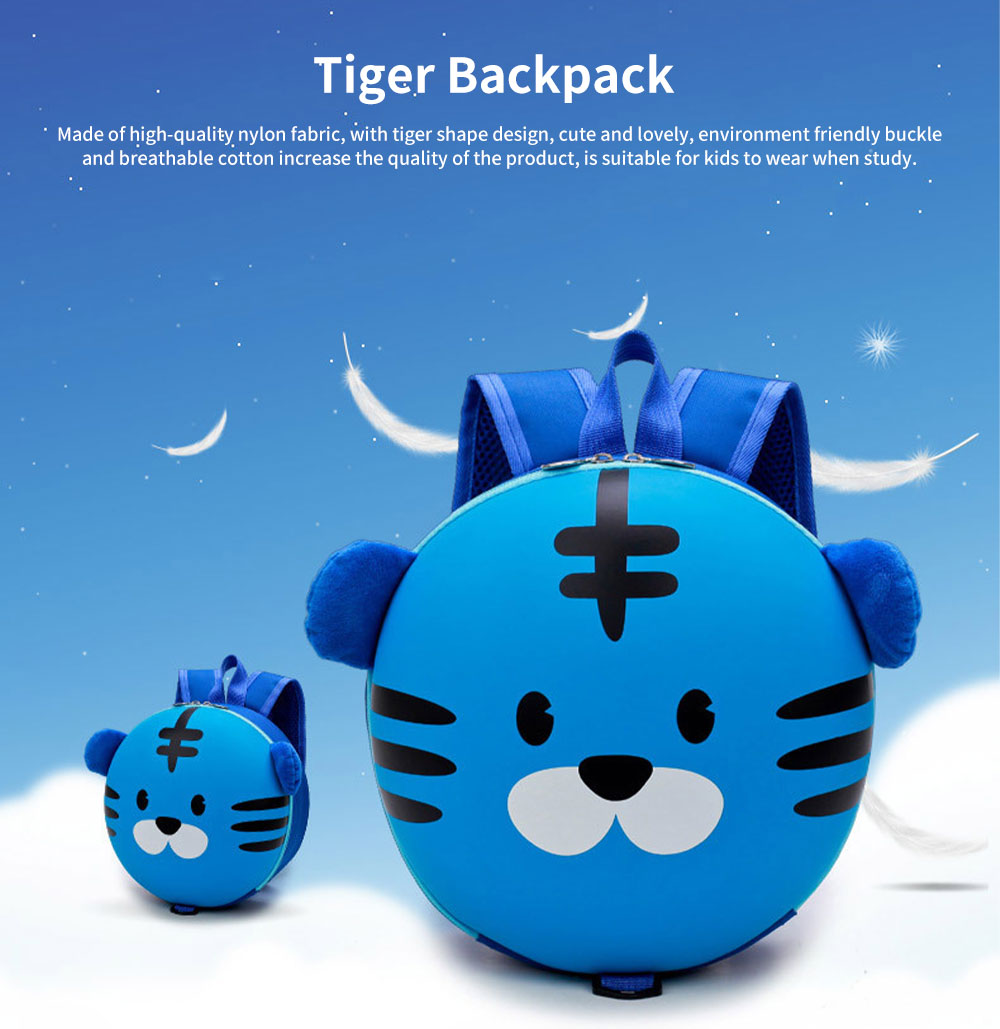 Tiger Backpack for Children Cute and Lovely Cartoon Style Environment Friendly Buckle Breathable School Bag 0