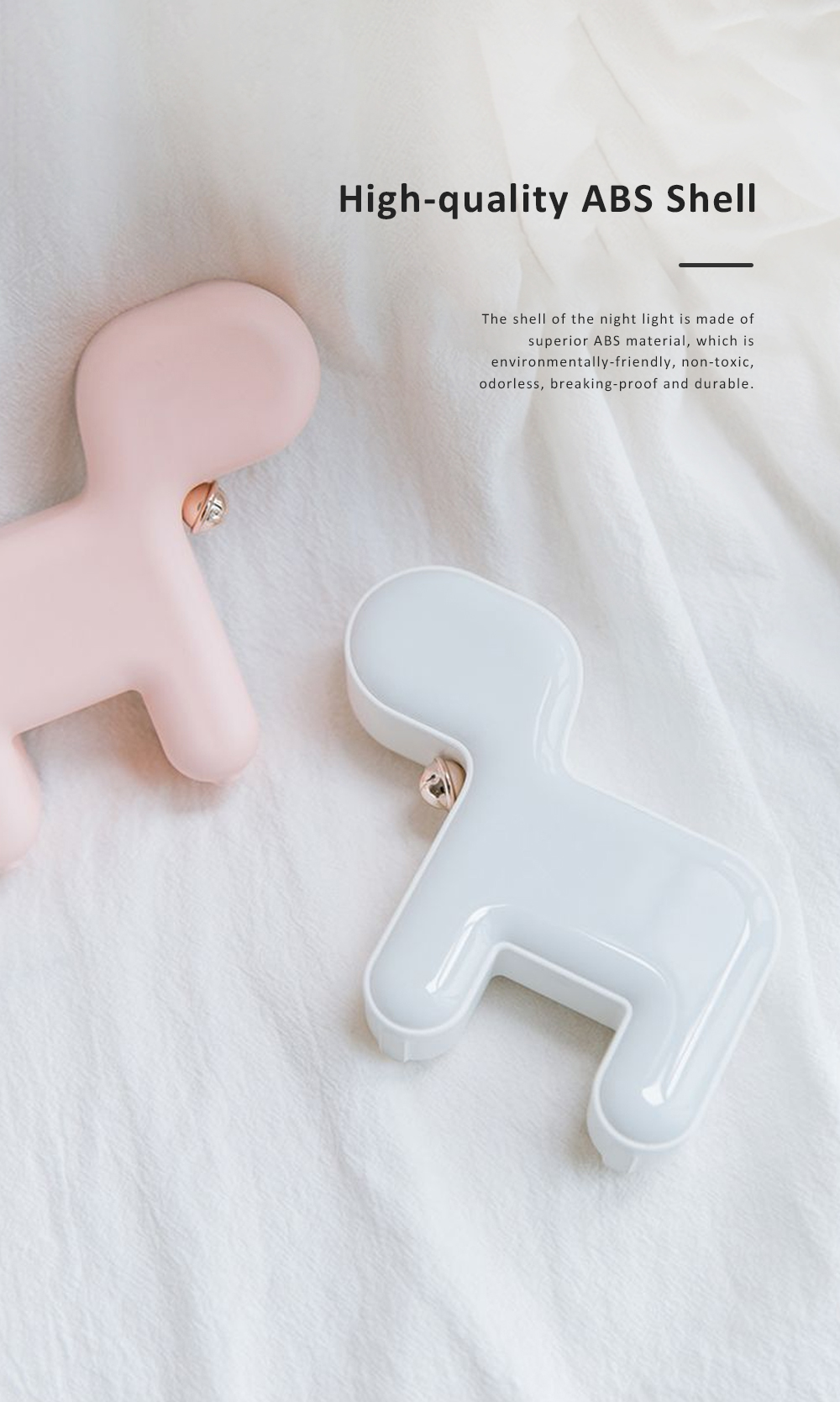 Cute Delicate Dog Bedroom Bedside Night Light Large Capacity Energy-saving LED Baby Comfort Lamp 1