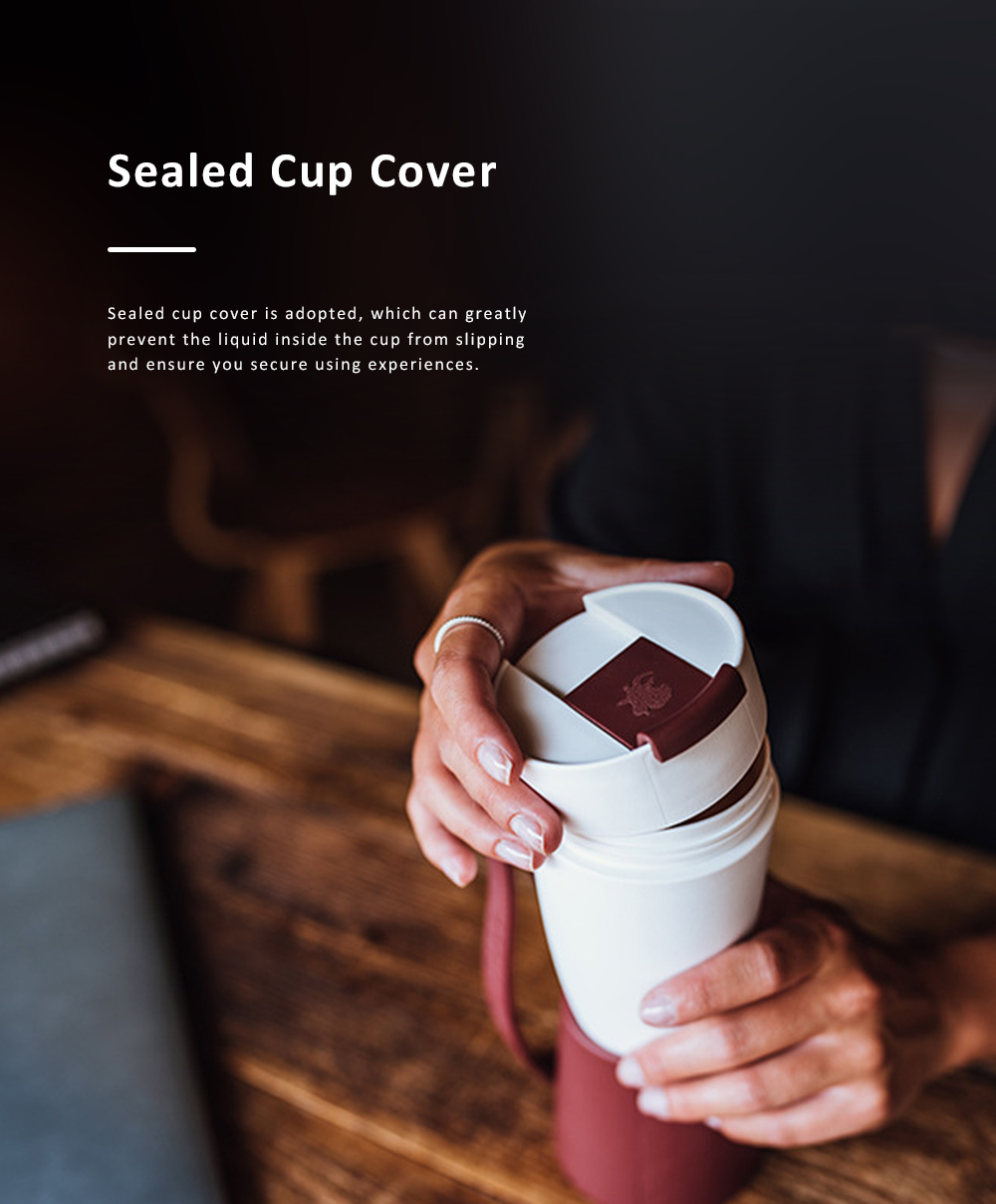 Stylish Creative Goat Claw Model Coffee Mug With Cover Leather Cup Cover Supporter Portable Outdoors Cup 4