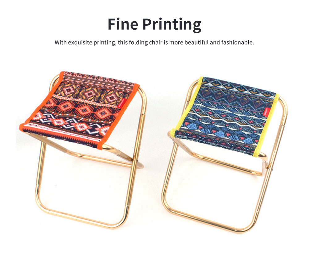 Outdoor Small Folding Chair Aluminium Alloy Folding Stool, Adult Mini Portable Chair for Barbecue or Fishing Train Stool 3