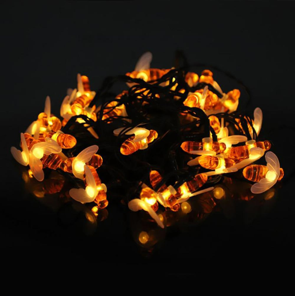 7M 50Leds Christmas Bee Shape Light Solar Powered Outdoor Decorative Lighting Waterproof 5