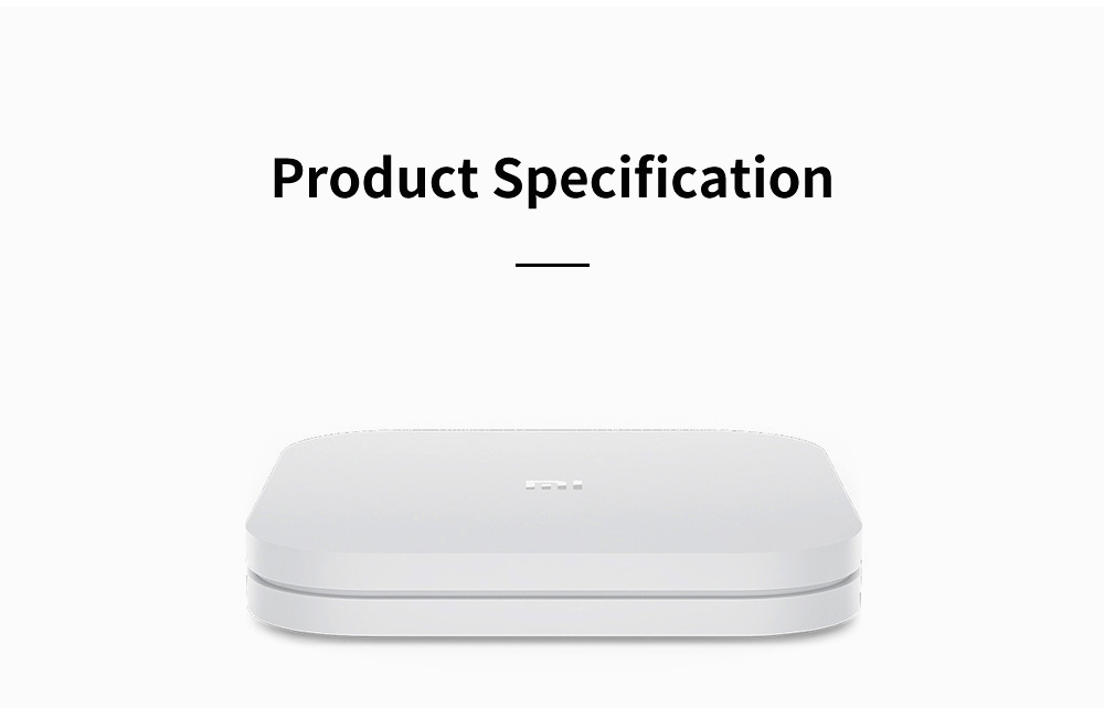 Xiaomi 4 AI Set-top Box Voice-control STB Wireless WIFI Audio Player Enhanced TV Box with Android 6.0 4K Ultra HD 2GB 8GB 10