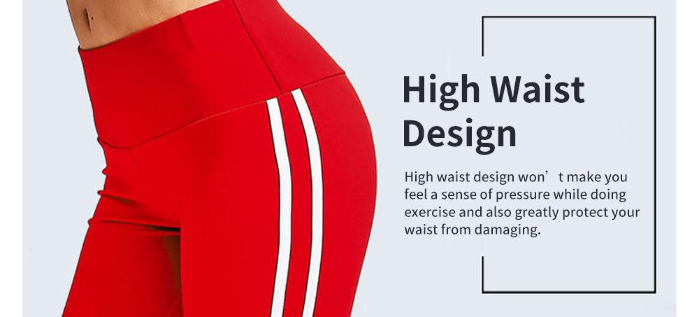 Stylish Minimalist Side White Stripes Decorative Long Sport Pants Lifting Butt Slim Fit Casual Yoga Dancing Pants for Ladies 2