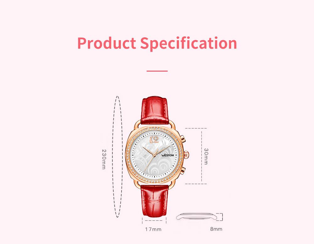 Fashionable Women's Wristwatch with Perfume Smell Screw-in Watch-head Wear Resistant Leather Miyota Quartz Watch 9