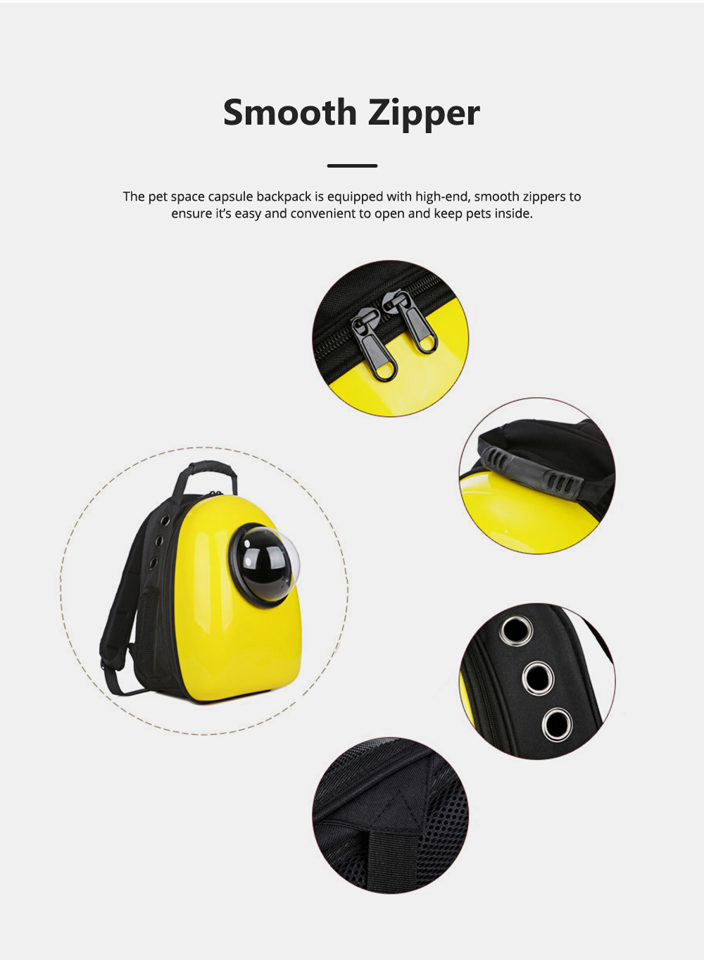 Pure Color Pet Space Capsule Backpack Nontoxic Breathable Knapsack for Dog Cat Going out Pet Products Packsack for Carrying Pet 1