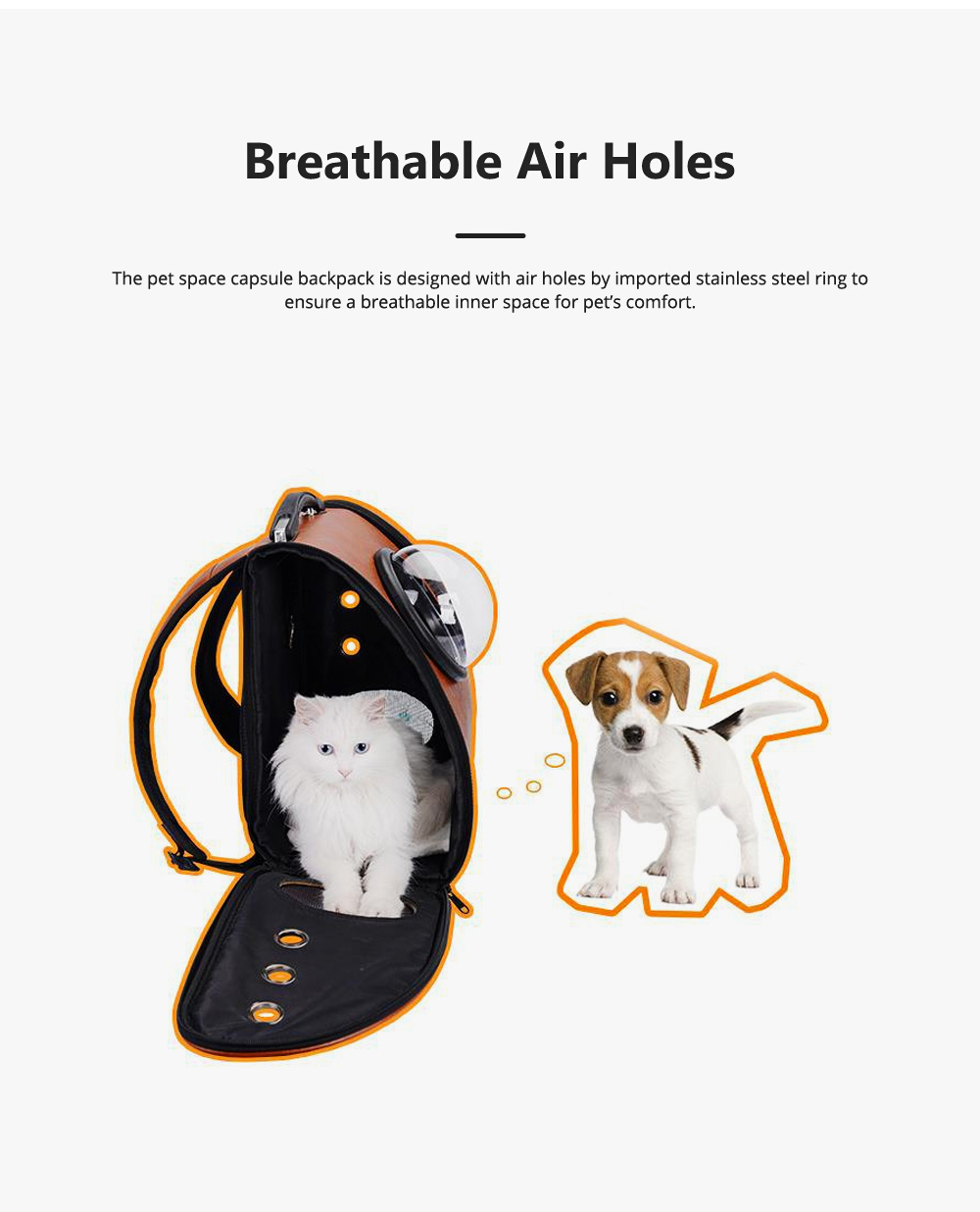 Pure Color Pet Space Capsule Backpack Nontoxic Breathable Knapsack for Dog Cat Going out Pet Products Packsack for Carrying Pet 3