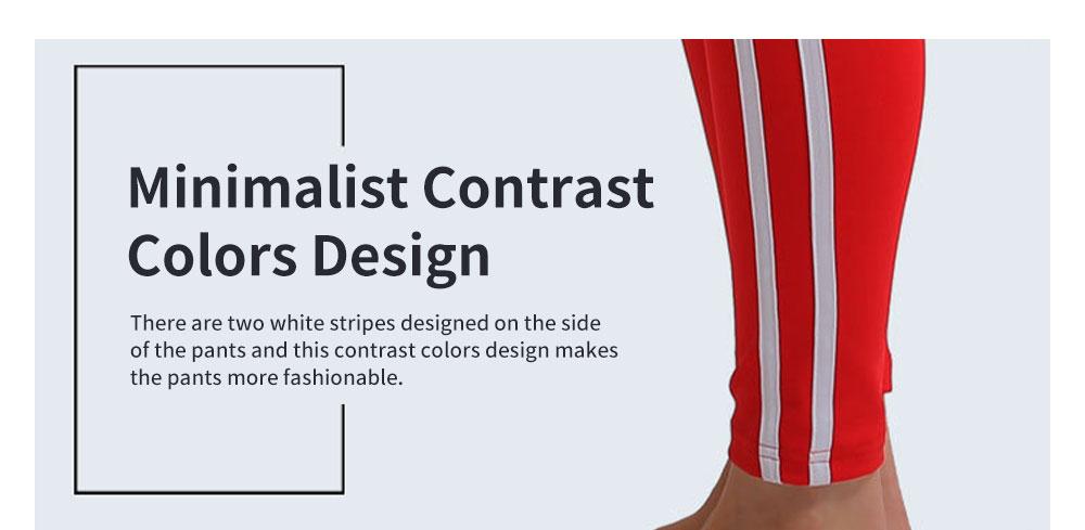Stylish Minimalist Side White Stripes Decorative Long Sport Pants Lifting Butt Slim Fit Casual Yoga Dancing Pants for Ladies 3