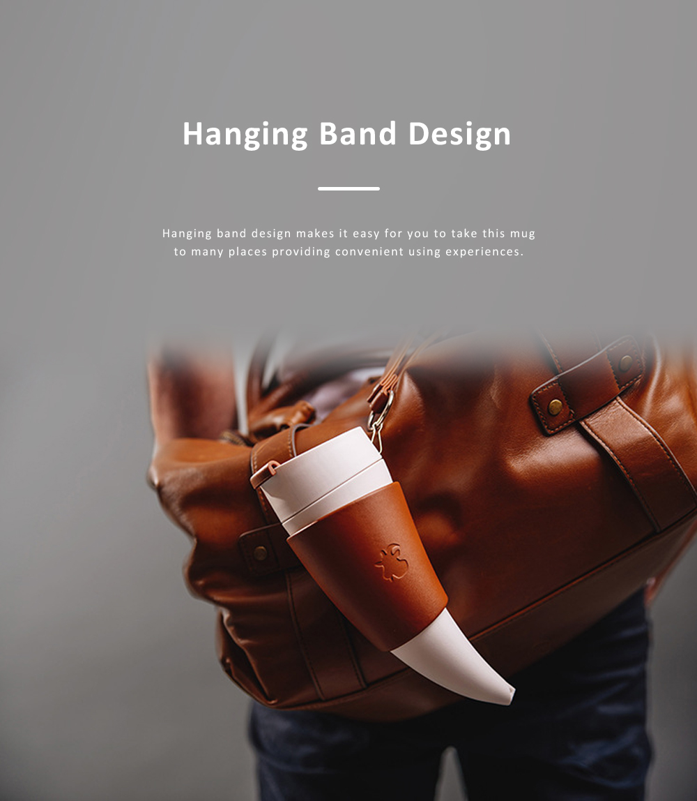 Stylish Creative Goat Claw Model Coffee Mug With Cover Leather Cup Cover Supporter Portable Outdoors Cup 5