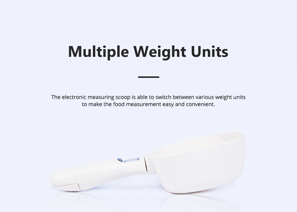 Electronic Measuring Scoop Food Grade PP Measuring Spoon for Dog Cat Rabbit Hamster Necessary Pet Product Cat Food Electronic Scale 4