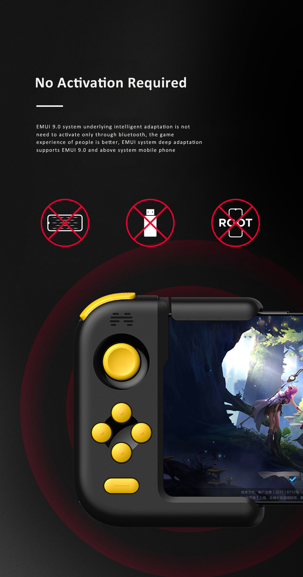 Huawei Beitong H1 Bluetooth Gamepad Joystick For Player Unknown's Battlegrounds Pukk Huawei Mobile Phone Game Controller for Mate20 P30 P20 2