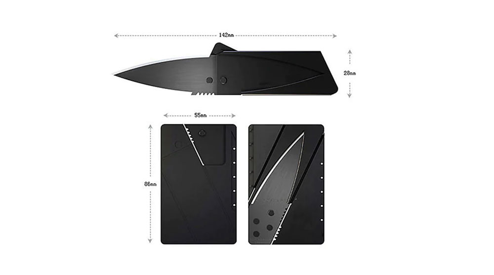 Ultra-thin Portable Multifunctional Mini Folding Outdoors Swiss Army Knife Card Sharp Delicate Fruit Knife 5