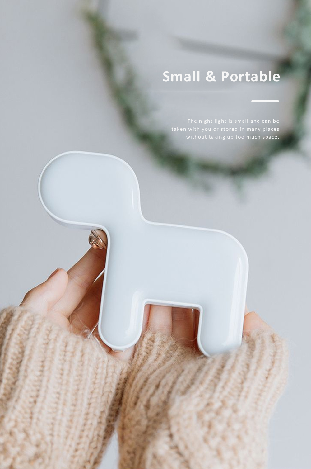 Cute Delicate Dog Bedroom Bedside Night Light Large Capacity Energy-saving LED Baby Comfort Lamp 5