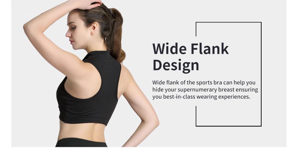 Minimalist High Collar Zipper Yoga Sports Bra for Ladies Fashion Comfortable Quick-dry Athletic Undergarment 5