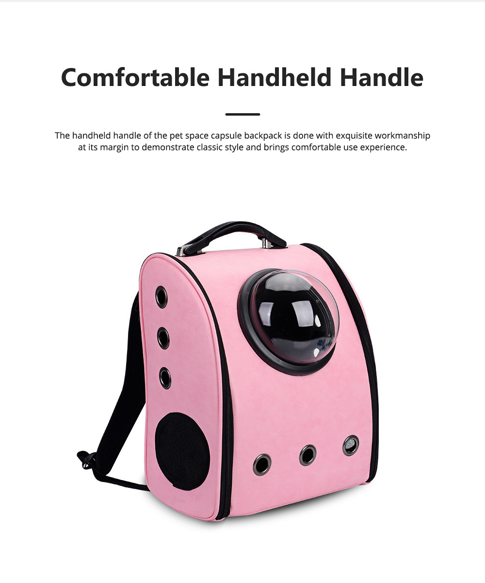 Pure Color Pet Space Capsule Backpack Nontoxic Breathable Knapsack for Dog Cat Going out Pet Products Packsack for Carrying Pet 2