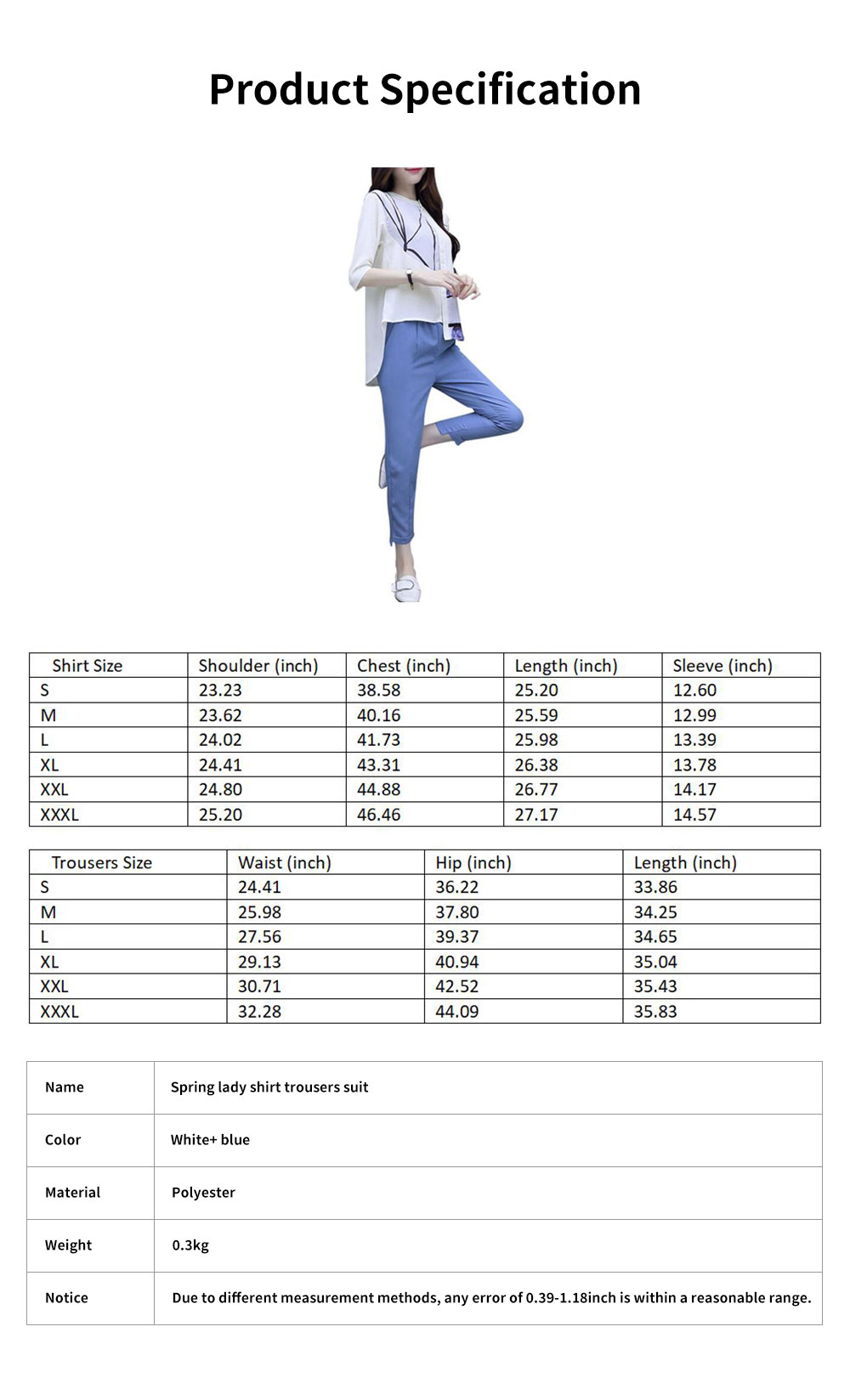 Minimalist Atmosphere Spring Lady Shirt Casual Trousers Suit Fashion Light Feet Pants Jointed Style Top for Women 7