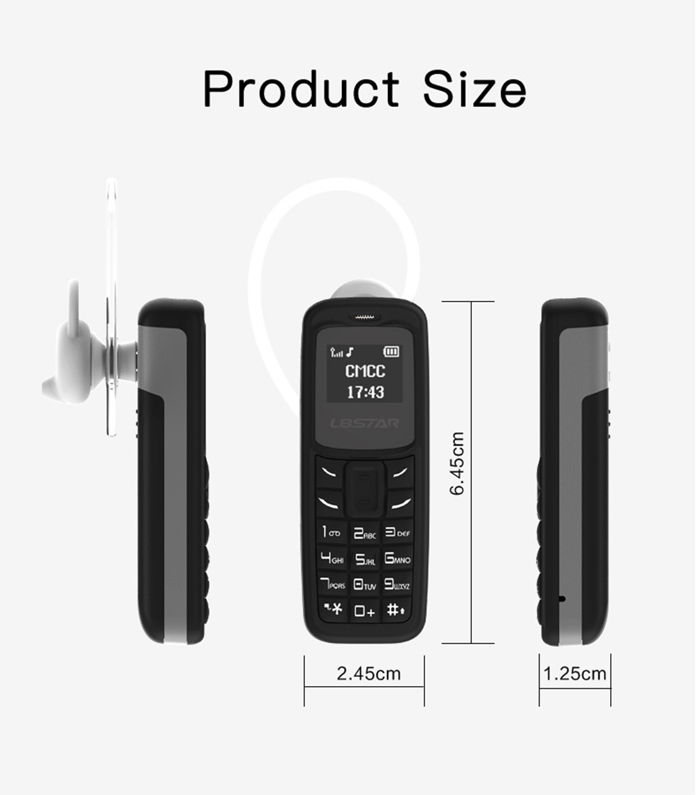 L8STAR BM10 Mini Phone 0.6 inch Lightweight Small Mobile Phone Magic Voice Call Bluetooth Mini Cell Phone 11